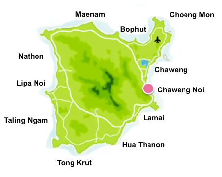 Chaweng Noi map
