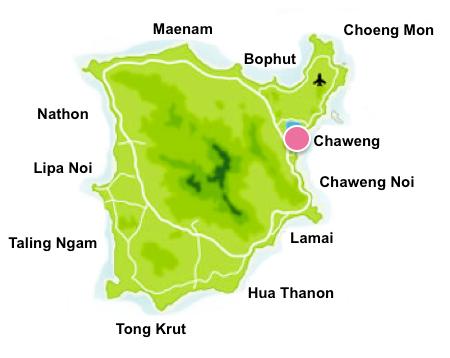 Chaweng map