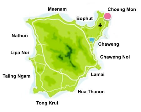 Choeng Mon map