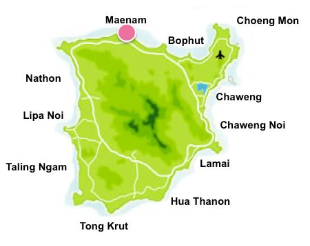 Maenam map
