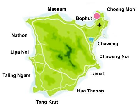 Plai Laem map