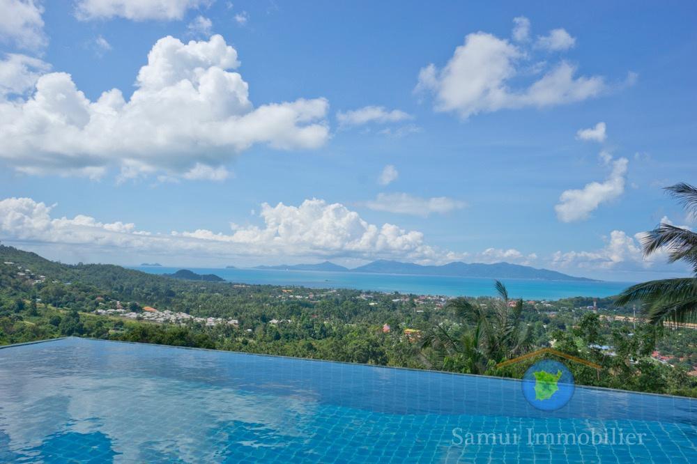 Villa vue sur mer vendre koh samui bophut thailande for Piscine a debordement thailande