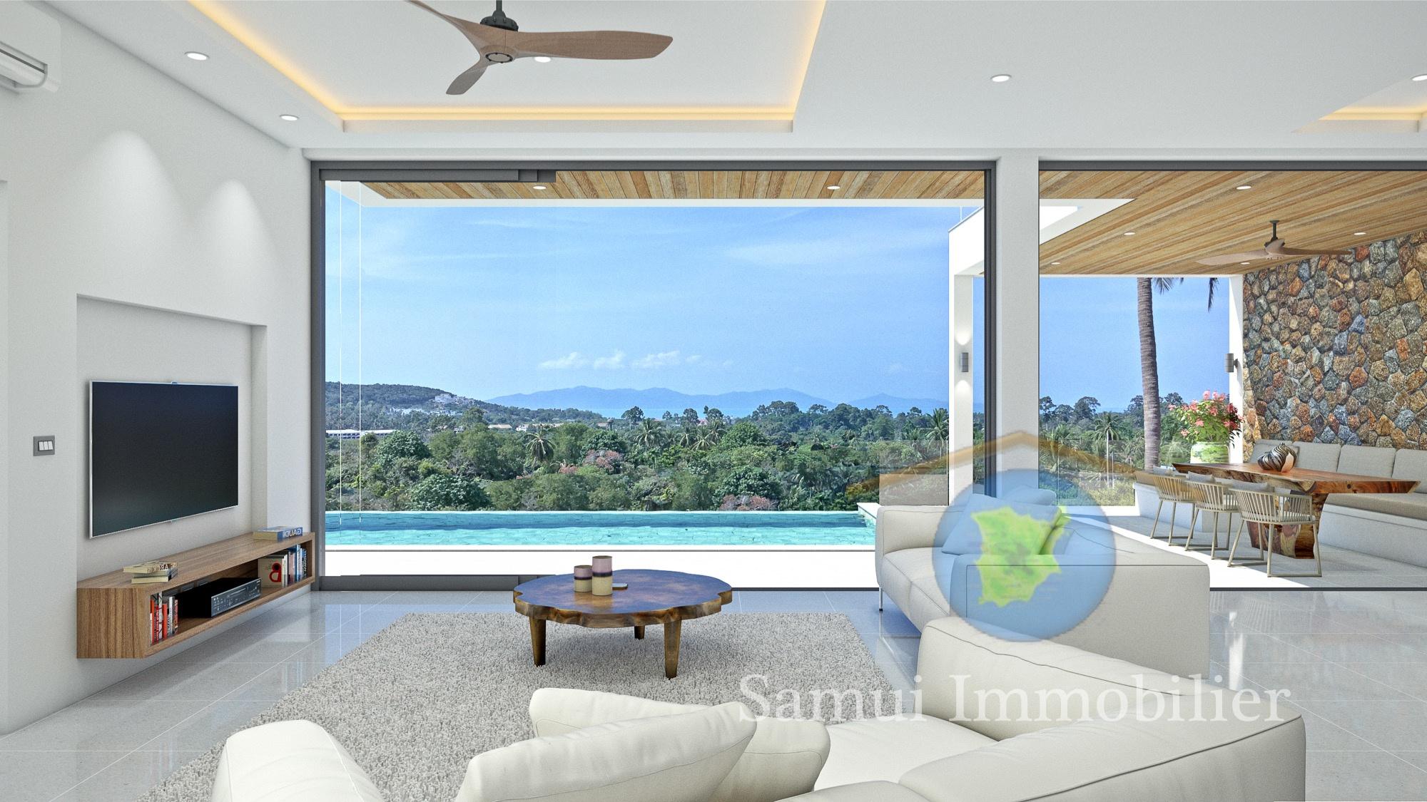 Villa for sale - 3 bedrooms - sea view - Bophut