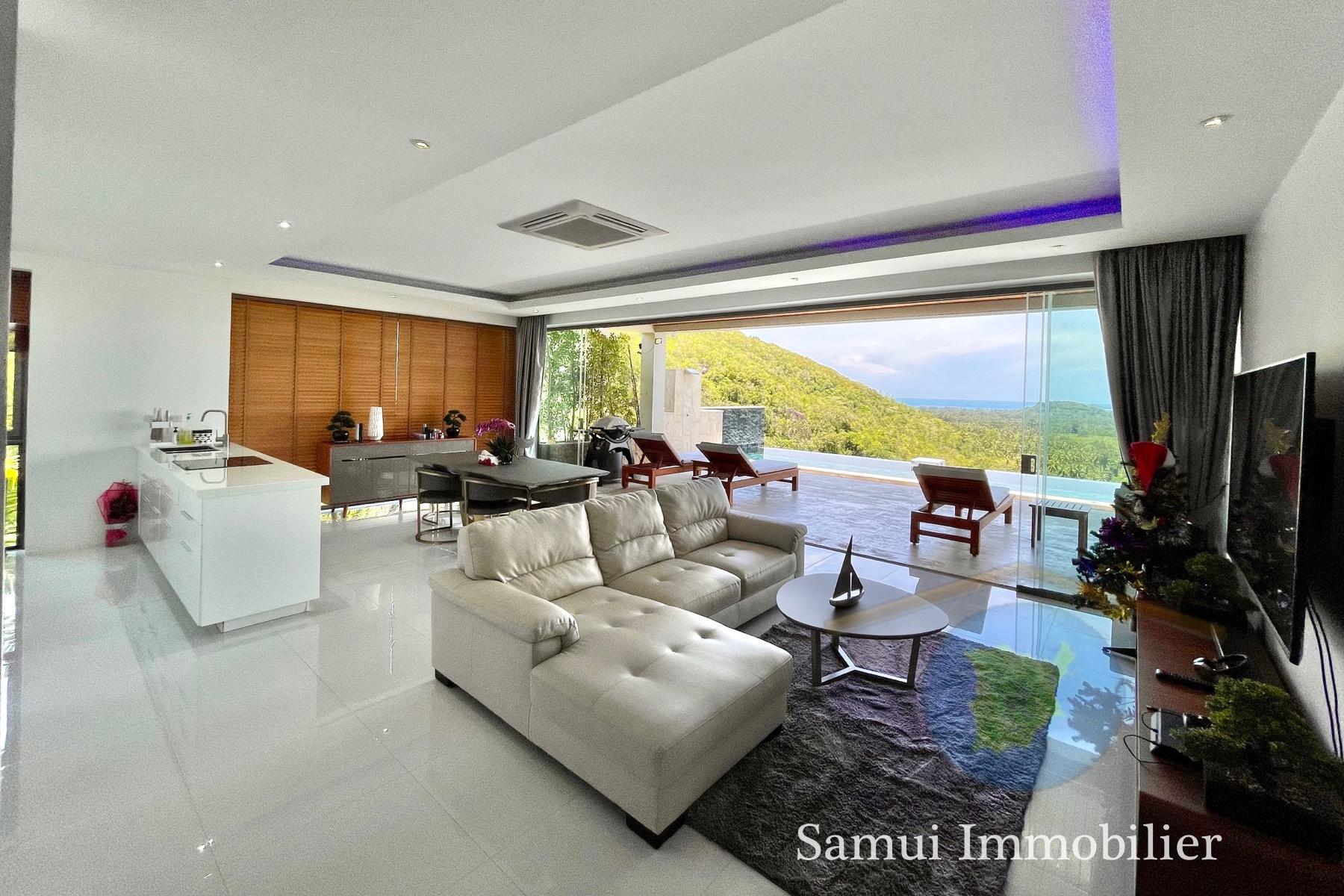 Villa à vendre - 3 chambres - vue sur mer - Taling Ngam