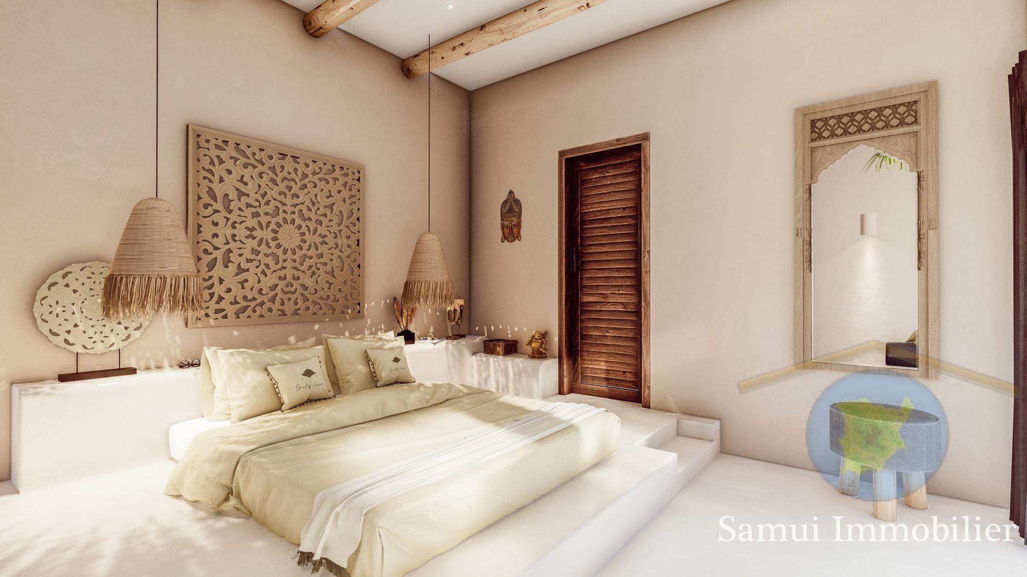 Villas for sale in lease - 2 or 3 bedrooms - Bophut